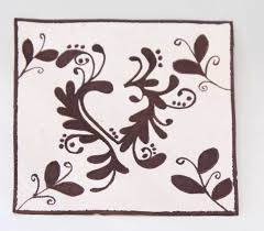 Amate Paper Designs Small Hand Painted Heart Amate Paper Wall Art