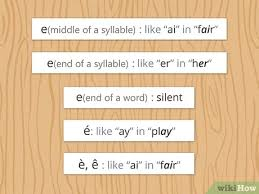 You'll learn the phonetics, the pronunciations, accents, and even a french alphabet song. How To Pronounce French Words With Pictures Wikihow