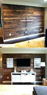 dark wood wall echoes with stone bathtub decor
