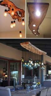 Interesting lighting fixtures Driftwood Uncut Has Become More And More Popular In Home Decor As It Would Bring Cozy And Natural Beauty Looking Raw Yet Very Refined And Another Interesting Pinterest Mountain Haus Wood Beam Light Fixture In 2019 Le Future Casa