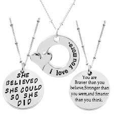 could so she did inspirational necklace 3 pcs set c417aa8k75k alovesoul braver believed inspirational necklace