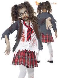 girls zombie cheerleader school girl costume fancy