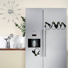 funny penguin kitchen fridge sticker