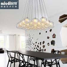 get quotations living room lamps bedroom modern minimalist restaurant chandelier fashion creative personality bar glass ball chandelier lamp