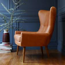 Leather Wingback Chair For Sale Erik Leather Wing Chair Sinks And Leather