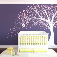 pink wall decals for nursery large windy nursery tree decal with birdhouse  carnation pink and large . pink wall decals ...
