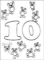 Small Picture Number 10 Ten coloring page Coloring pages