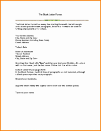 Block Form Business Letter Format On Formal Letter With Address Cover Plus Block Business