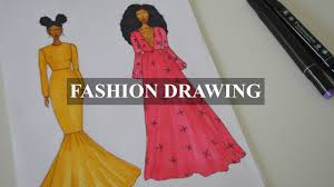 Fashion Drawing Attempt Sequin Mermaid Dress Youtube