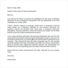 Cover Letter With Salary Administrative Cover Letters Cover Letter
