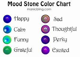 Mood Ring Chart 15 Timeless Mood Necklace Colors