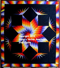 Dancing Eagles Star Quilt Pattern | Dianes Native American Star ... & Dancing Eagles Star Quilt Pattern | Dianes Native American Star Quilts: The  Latest Star Quilts Adamdwight.com