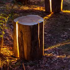 cracked log lamps by duncan meerding  colossal