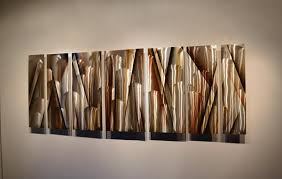 vanishing point 68 x24 earthtone large modern abstract metal wall art sculpture on large metal wall artwork with vanishing point 66 x24 large earthtone brown modern abstract