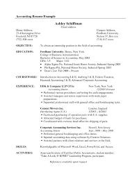 Resume Example For Accounting Position Resumes for accounting resume examples accountant objective example 15