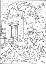 Het Huis Op De Rots Matteus 724 27 Godsdienst Kleurplaten