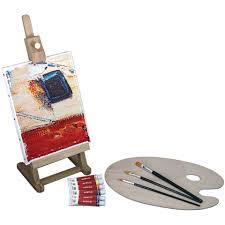 mini easel acrylic paint set