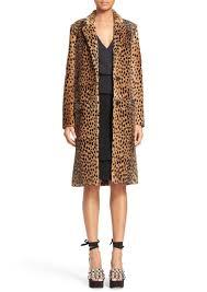 alexander cheetah print genuine kangaroo fur coat