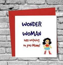 Christmas Birthday Cards Wonder Woman Funny Mothers Day Christmas Birthday Card Mum