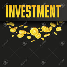 Investment Poster Or Banner Design Template With Golden Coins