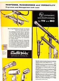 1953 ad for the electro voice 635 646 650 654 and 655 1955 ad for the electro voice microphones in phantom productions vintage tape recording collection