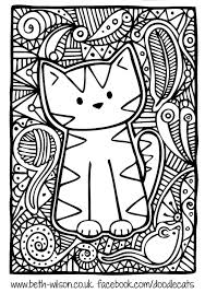 Small Picture Free coloring page coloring adult difficult cute cat Para
