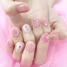 Vol42 お花ピンクの春ネイル Non No Webファッション美容