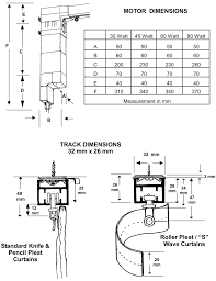 the curtain hardware company products technical specs motor dimensions