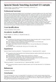 How To Make A Resume For Job Application Sample Special Needs