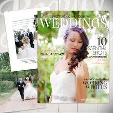 Photography Magazine Template Wedding Guide Digital Or Custom Wedding Magazine Photography Cover Photo