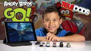 ANGRY BIRDS GO! Gameplay & Exclusive Deluxe Kart Pack Telepods - YouTube