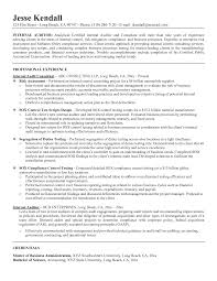 Resume Cover Letter Examples Internaln For Audit Manager Sample