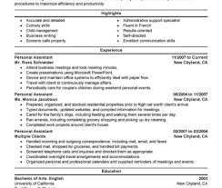Amazing Resumes Expertise Resumes Matchboard Co Management Personal Services Resume 49