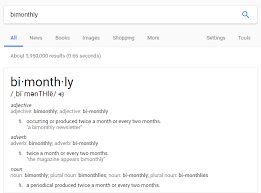 Bimonthly Means 1 In 2 Months Or 2 In 1 Month