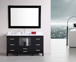 60 Bathroom Cabinet Design Element Stanton Single 60 Inch Modern Bathroom Vanity Set