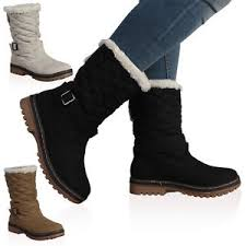 DD15 WOMENS QUILTED LADIES FAUX FUR GRIP SOLE WINTER SNOW BOOTS ... & Image is loading DD15-WOMENS-QUILTED-LADIES-FAUX-FUR-GRIP-SOLE- Adamdwight.com