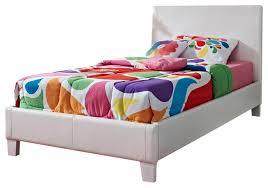 Kids bed Epic Standard Furniture Fantasia Upholstered Kids Bed In White Vinyl Traditional Kids Beds By Beyond Stores Houzz Standard Furniture Fantasia Upholstered Kids Bed In White Vinyl