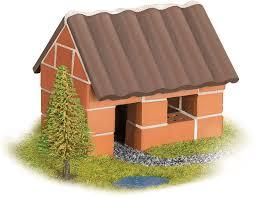 Entretanto, residências com tijolos na. Casa Pequena Tijolinhos 35 Pcs Playlab