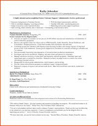 Sample Of Resume For Customer Service Representative Sample Resume For Customer Service Program Format 10