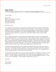 Cover Letter Sample For Students Sample Cover Letter For