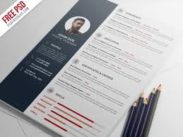 Resume Psd Template Photoshop Resume Template Free Photoshop Resume