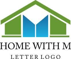 Home Building Construction M Letter Logo Vector Ai Free Download