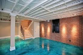 paint colors for basementInterior Best Basement Floor Paint Colors With Pillar White Door