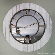 large rustic clock