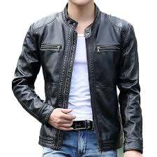 men 039 s leather jacket design stand collar coat men casual motorcycle with