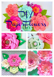paper flower home decor diy home paper fl decor diy paper flower wall art