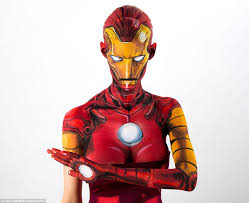 kay pike pictured as marvel character iron man transforms herself into ic book and