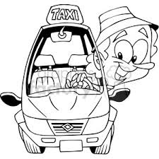car driving clipart black and white. Wonderful Driving Driving Clipart Outline Royalty Free Taxi Driver Jpg Stock Inside Car Clipart Black And White F
