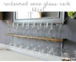 wall mounted glass rack amazing of wood wall mounted wine glass rack reclaimed wine glass rack