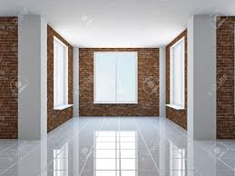 the empty hall with brick wall and windows stock photo picture inside sizing 1300 x 975